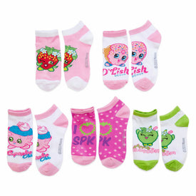 Shopkins Favorite Characters 5 Pack Funny Pop Culture Kids Novelty Ankle Socks