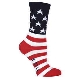 American Made Flag Funny USA Womens Novelty Crew Socks