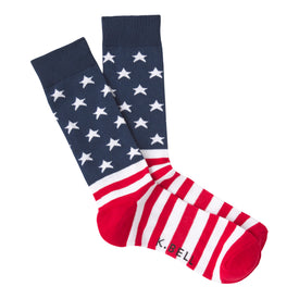 American Flag XL Funny USA Mens Novelty Crew Socks
