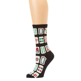 Mah Jong Funny Games Womens Novelty Crew Socks