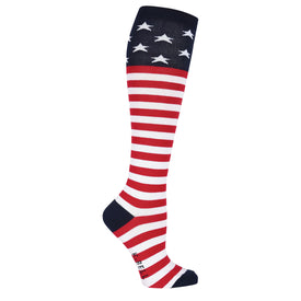 American Flag Funny USA Womens Novelty Knee High Socks