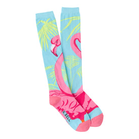 Flamingo Funny Wildlife Womens Novelty Knee High Socks