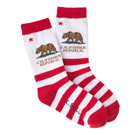 CA Republic American Made Funny Words Womens Novelty Crew Socks