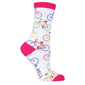 Colorful Bikes Funny Sports Womens Novelty Crew Socks
