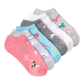 Dogs 6 Pack Funny Pets Womens Novelty Ankle Socks