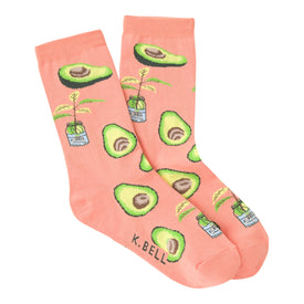 Avocado Funny Fruit Womens Novelty Crew Socks