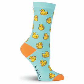 Rubber Ducks Funny Print Womens Novelty Crew Socks