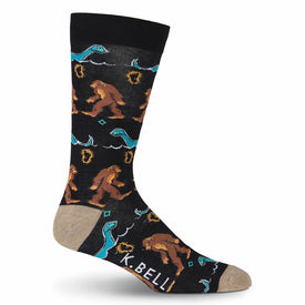Myths & Legends Funny Myths & Legends Mens Novelty Crew Socks