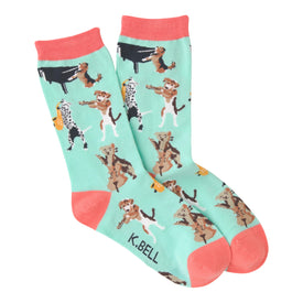 Musical Dogs Funny Pets Womens Novelty Crew Socks