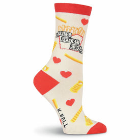 Fries Before Guys Funny Words Womens Novelty Crew Socks