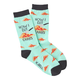 How I Cut Carbs Funny Workout Womens Novelty Crew Socks