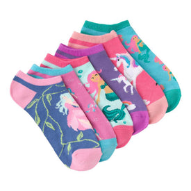 Mythical Creatures 6-Pack Funny Unicorns Womens Novelty Ankle Socks