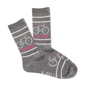 Cycologist Funny Sports Womens Novelty Crew Socks
