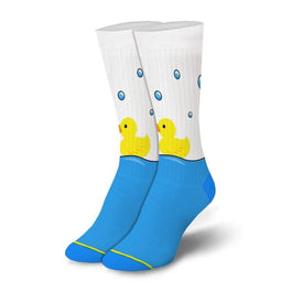 Squeaky Clean Funny Ducks Womens Novelty Crew Socks