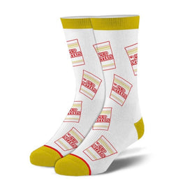 Cup Noodles Cup Funny Ramen Unisex Novelty Crew Socks