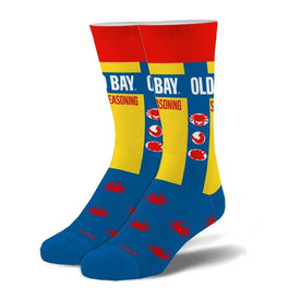 Old Bay Funny Food & Drink Unisex Novelty Crew Socks
