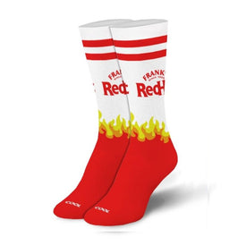 Franks Red Hot Logo Funny Food & Drink Womens Novelty Crew Socks