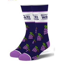 Welch's Funny Food & Drink Unisex Novelty Crew Socks
