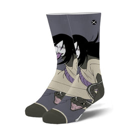Orochimaru Funny Pop Culture Unisex Novelty Crew Socks