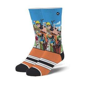Naruto Strike Funny Pop Culture Unisex Novelty Crew Socks