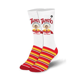 Tapatio Funny Tacos Womens Novelty Crew Socks