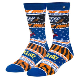 Frosted Flakes Ugly Sweater Funny Junk Food Unisex Novelty Crew Socks