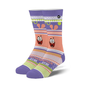 Patrick Ugly Sweater Funny Pop Culture Unisex Novelty Crew Socks