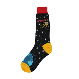 Sputnik Funny Space Mens Novelty Crew Socks
