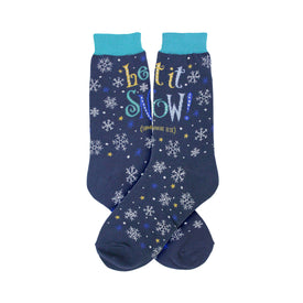 Let It Snow Funny Words Womens Novelty Crew Socks
