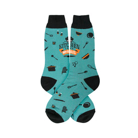 My Kitchen Funny Words Mens Novelty Crew Socks