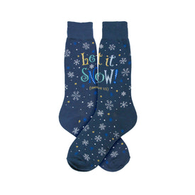 Let It Snow Funny Words Mens Novelty Crew Socks
