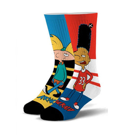Hillwood Boys Funny Pop Culture Unisex Novelty Crew Socks