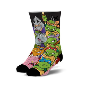 TMNT Showdown Funny Pop Culture Unisex Novelty Crew Socks
