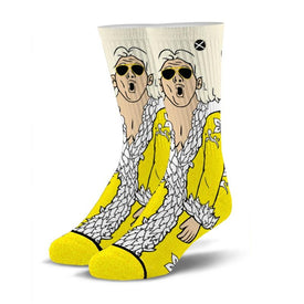 Gold Flair Funny Wrestling Unisex Novelty Crew Socks