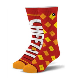 Cheez It Crackers Funny Junk Food Unisex Novelty Crew Socks