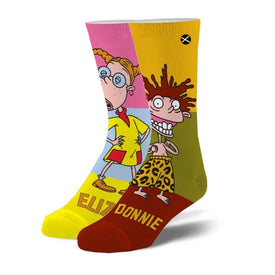 Eliza & Donnie Funny Pop Culture Unisex Novelty Crew Socks