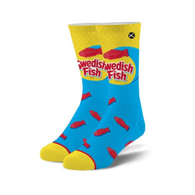 Swedish Fish Funny Junk Food Unisex Novelty Crew Socks