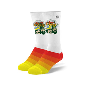 Cheech & Chong Smoked Out Funny Pop Culture Unisex Novelty Crew Socks