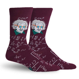 Relatively Cool Funny Science Mens Novelty Crew Socks