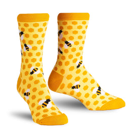 Bee's Knees Funny Wildlife Womens Novelty Crew Socks
