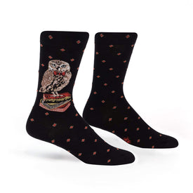 Reading Is A Hoot Funny Wildlife Mens Novelty Crew Socks