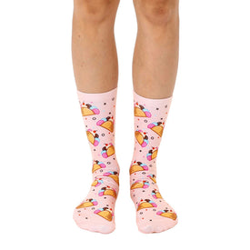 Ice Cream Taco Funny Tacos Womens Novelty Crew Socks