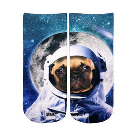 Astronaut Dog Funny Space Womens Novelty Ankle Socks