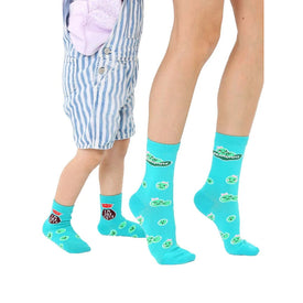 Edamommy Me And Mini Funny Mothers Day Kids Novelty Crew Socks