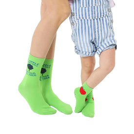 Apple Me And Mini Funny Mothers Day Kids Novelty Crew Socks
