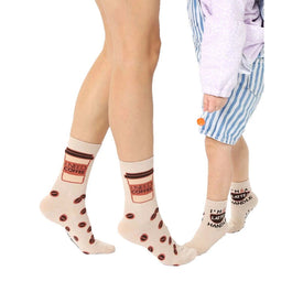 Coffee Me And Mini Funny Mothers Day Kids Novelty Crew Socks