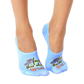 F this O'clock Funny Words Womens Novelty Liner Socks