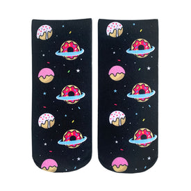 Galaxy Donut Funny Space Womens Novelty Ankle Socks