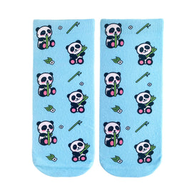 Panda Bamboo Funny Wildlife Womens Novelty Ankle Socks