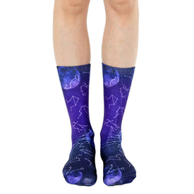 Astrology Funny Zodiac Unisex Novelty Crew Socks